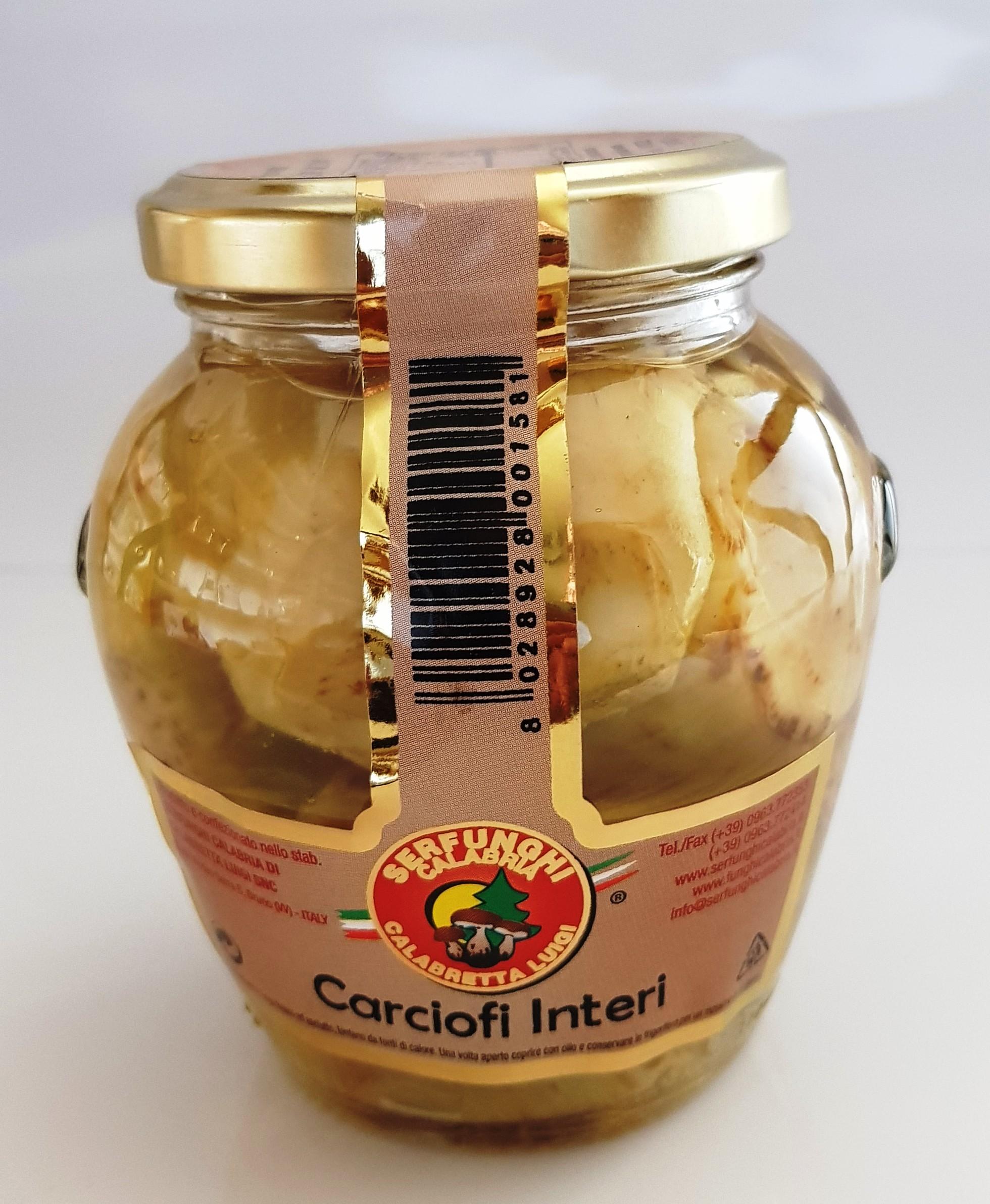 CARCIOFI INTERI ML 314-580-3100