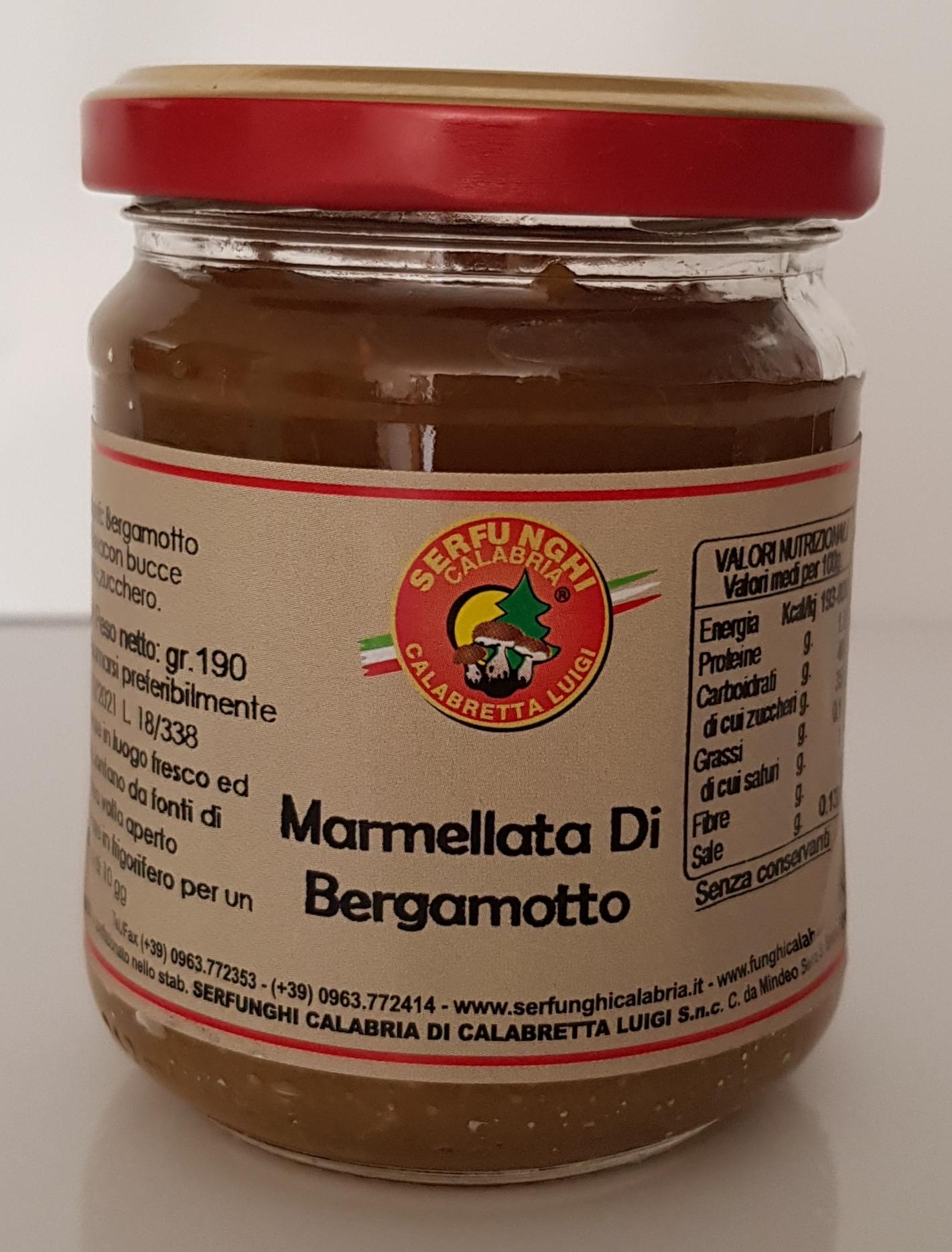 MARMELLATA DI BERGAMOTTO ML 212