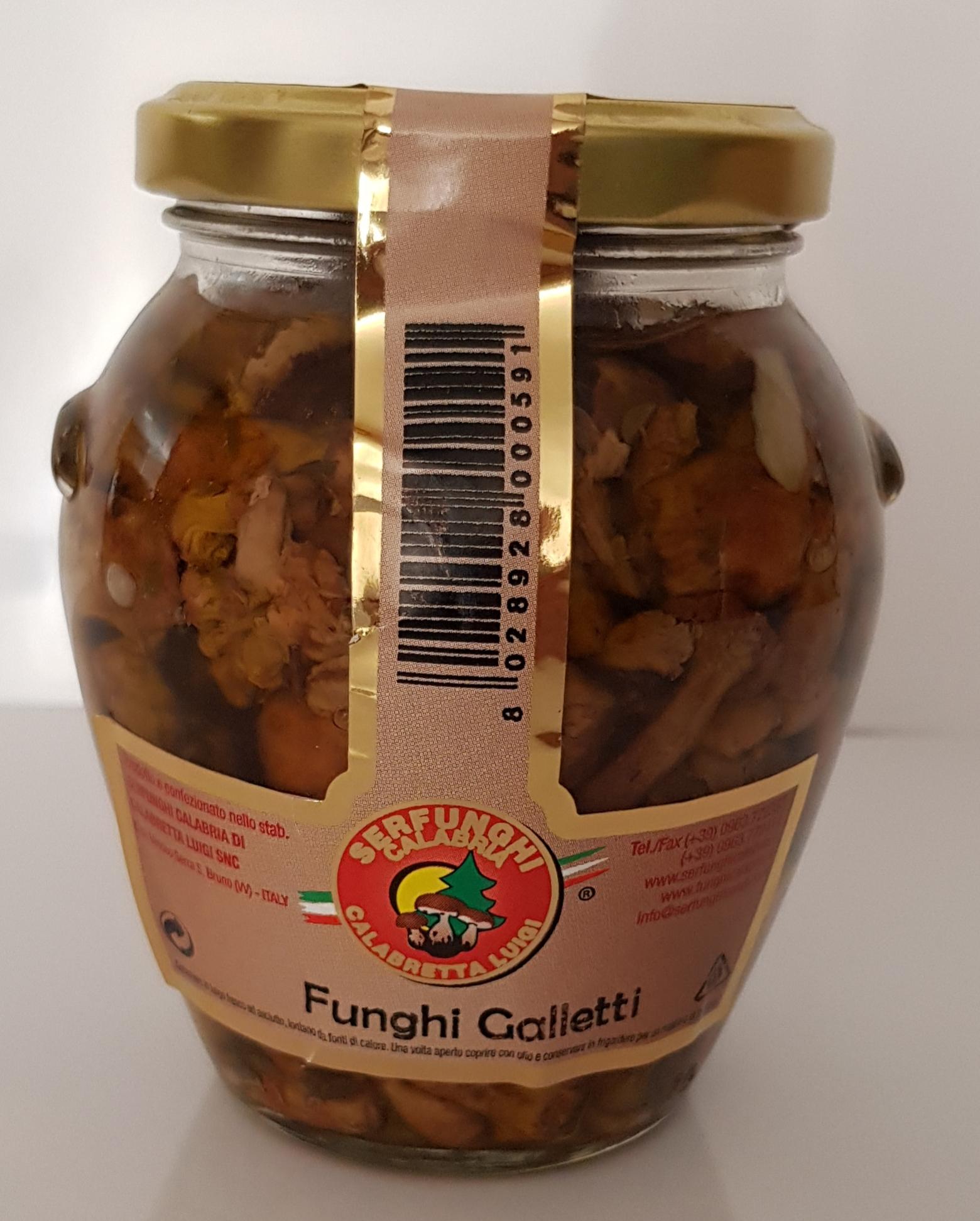 FUNGHI GALLETTI ML 314-580