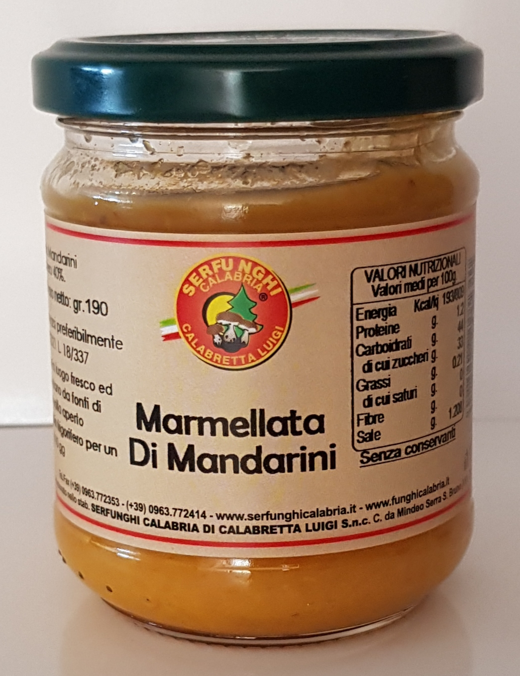 MARMELLATA DI MANDARINO ML 212