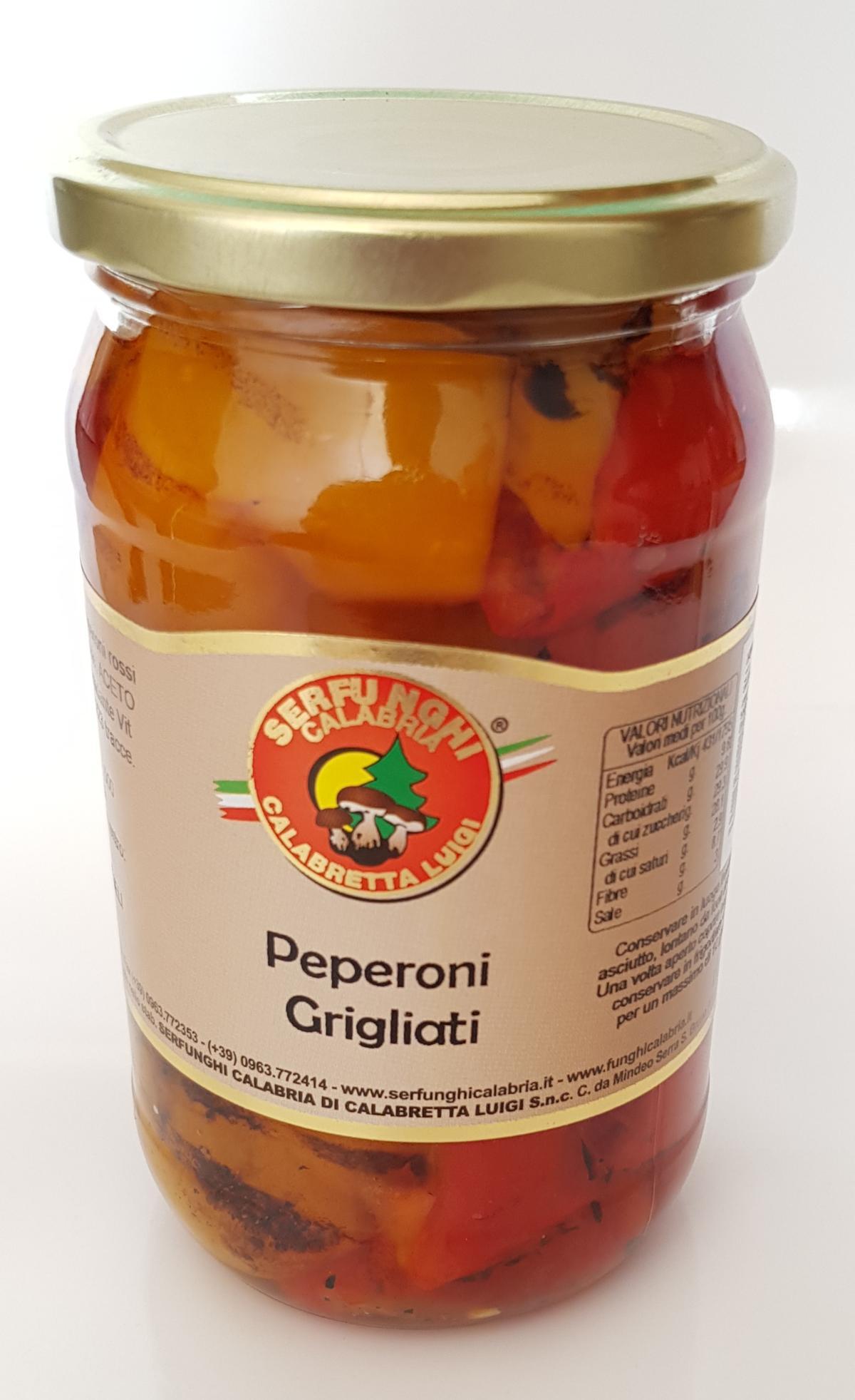 peperoni rossi e gialli grigliati